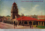 Postcard of the Santa Fe Mission Depot, Albuquerque, ca. 1912