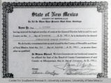 Board of County Commissioners Certificate, 1938