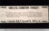 Columbus Hall Advertisement, ca. 1907