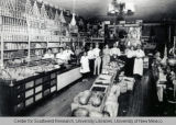 Interior of Champion Grocery and Meat Market, ca. 1908