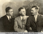 Portrait of three unidentified men