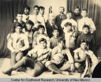 Group portrait of the Albuquerque Indian School football team