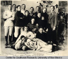 Group portrait of the University of New Mexico football team
