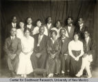 Group portrait of an African-American musical group