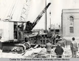 Construction of Central Ave. underpass.