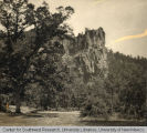 Battleship Rock in the Jemez Mountains