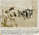 Participants in the San Juan Seed Ball Game Waiting for the Ball to be Thrown Out from One of the...