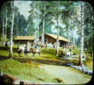 Unidentified log cabin camp