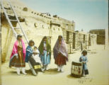 Hopi women and children