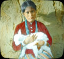 Navajo girl with a sheep