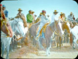 Navajo men on horseback