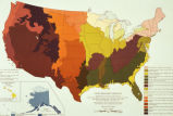 "Photograph of map ""Land Resource Regions,"" adapted from United States, Soil Conservation..."
