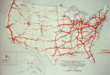"Photograph of map ""Average Daily Traffic Flow: 1967 on the Interstate System"" Depicting..."