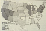 Photograph of unknown map of the United States in German (number of German households across the...