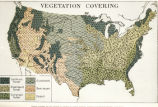 "Photograph of map ""Vegetation Covering [of United States] Drawn expressly for The Pageant of..."