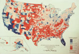 "Photograph of map ""Net Population Migration: 1950-1960"" complied from Bureau of the..."