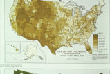 "Photograph of map ""Grazing and Pastureland as a Percent of Total Land Area: 1959"" Map of..."