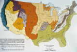 "Photograph of United States map showing ""Physical Divisions:1928"" including:..."