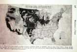 "Photograph of United States map ""Breaking land: percentage with tractor-drawn implements..."