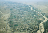 Aerial photograph of acequia farming patterns, Albuquerque NM