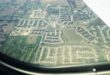High plains rural scenery from an aircraft window