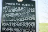 High Plains, Opening the Sand hills sign