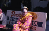 Clown on bench