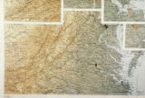 Photograph of map highlighting Washington DC, Richmond & Norfolk VA
