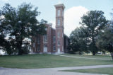 University brick building with tower