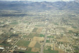 "Aerial photograph, labeled ""air view of subdivisions, Albuquerque New Mexico,"" by J B..."