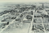 "Aerial photograph from unidentified source, ""Grid Village, North Dakota"" also labeled..."