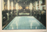 "Photograph of unidentified publication, ""the pool of Brooklyn's St George Hotel, where one..."