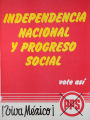 Independencia nacional y progreso social vote así