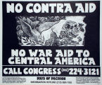 No Contra Aid: No War Aid to Central America