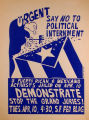 Urgent Say No to Political Internment