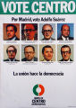 Political poster depicting a number canidates for office in Madrid, Spain in 1977.