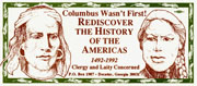 Columbus Quincentenary Protest Sticker