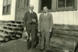 Portrait of John Gaw Meem and unidentified man