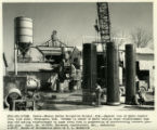 General view of Hydro Conduit Corp. pipe plant, from Canals - Navajo Indian Irrigation Project,...