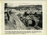 View of steel form in trench from Canals - Navajo Indian Irrigation Project, New Mexico