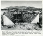 Concrete formwork for fan-like tunnel inlet from Canals - Navajo Indian Irrigation Project, New...