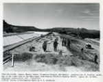 Finishing the berm from Canals - Navajo Indian Irrigation Project, New Mexico