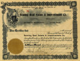 Stock Certificate for Deming Real Estate and Improvement Company