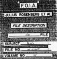Cover of F.O.I.A. Declassified Report on Julius Rosenberg, et al.