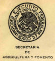 Log of the Secretaría de Agricultura y Fomento, Mexico City