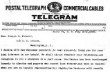 Telegram from Miguel Otero to Joseph Foraker