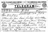 Telegram to Miguel Otero p.1