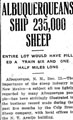 Albuquerqueans Ship 235,000 Sheep