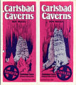 Carlsbad Caverns tourist brochure