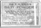 Dr. T.F. Ealy's Baby Powder